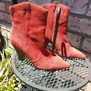 """Burnt Orange """"Kensie"""" Cowgirl Boot"""